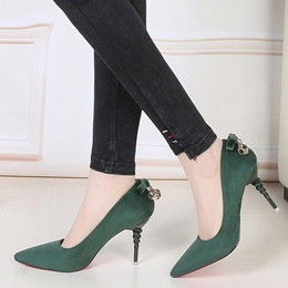 Shoespie Chic Back Bow Stiletto Heels