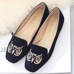 Shoespie Cute Animal Embroidered Loafers