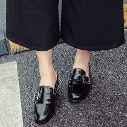 Shoespie Chic Comfortable Buckle Backless Loafers