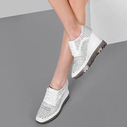 Shoespie Highend Hollow Out Platform Hidden Elevator Heel Sneakers