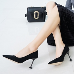 Shoespie Chic Black Pointed Toe Stiletto Heels