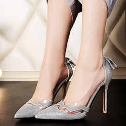 Shoespie Classy Illusion Patchwork Stiletto Heels