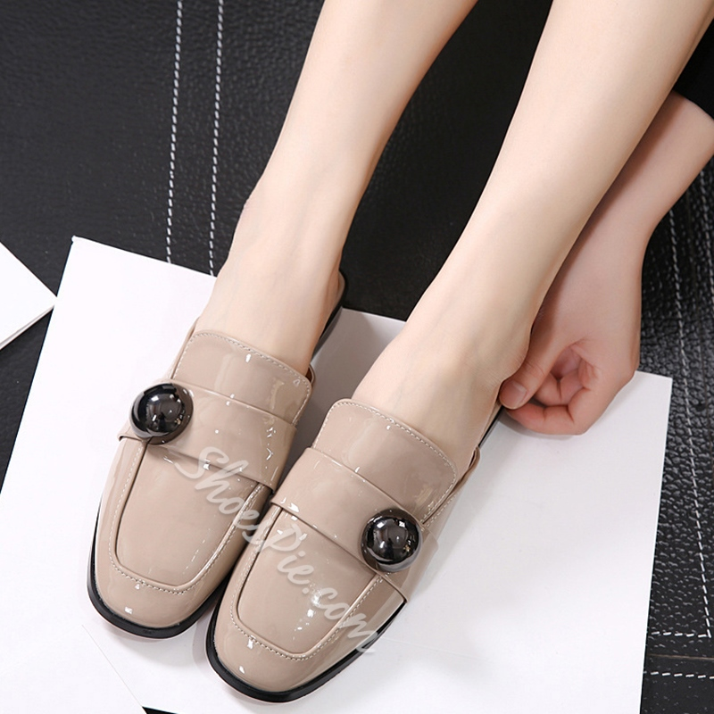 Shoespie Comfortable Rectangular Backless Loafers