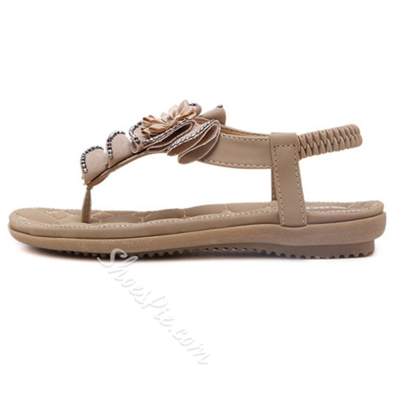 Shoespie Cute Flora Applicure Flat Sandals