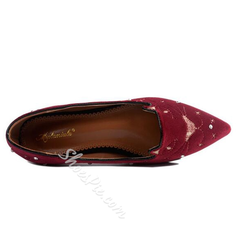Shoespie Cute Cat Embroidered Loafers