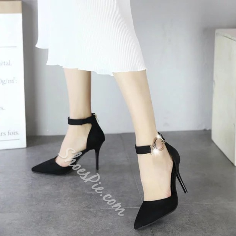 Shoespie Chic Two Part Pointed Toe Stiletto Heels