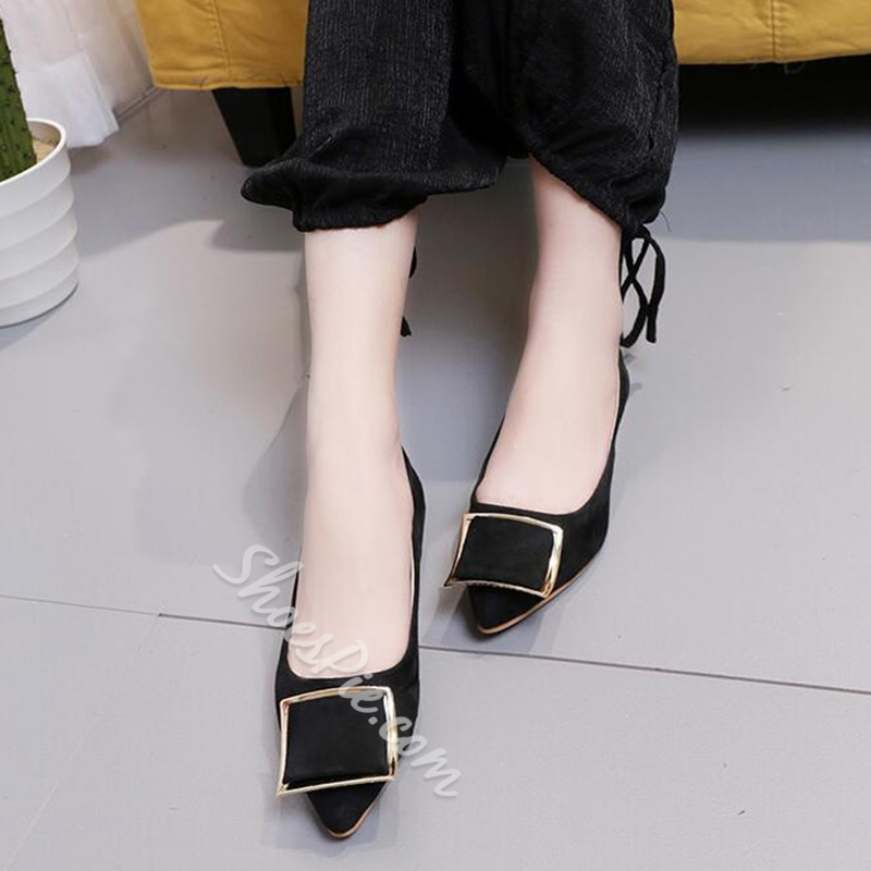 Shoespie Elegant Metal Appliqued Loafers