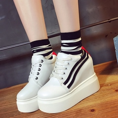 Shoespie Block Color Platform Sneakers