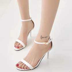Shoespie Simple Strap Heel Sandals