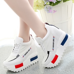 Shoespie Contrast Color Hidden Elevator Heel Sneakers