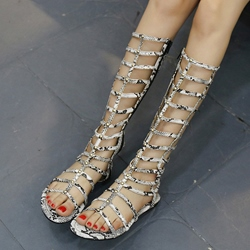 Shoespie Serpentine Flat Gladiator Sandals