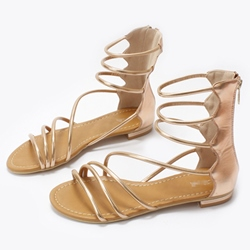 Shoespie Strappy Roman Flat Sandals