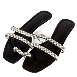 Shoespie Sequin Strappy Clip Toe Slippers