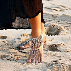 Shoespie Vintage Sliver Layered Anklet