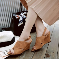 Shoespie Elegant Slingback Wedge Sandals