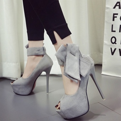 Shoespie Platform Peep Toe Bowties Platform Sandals