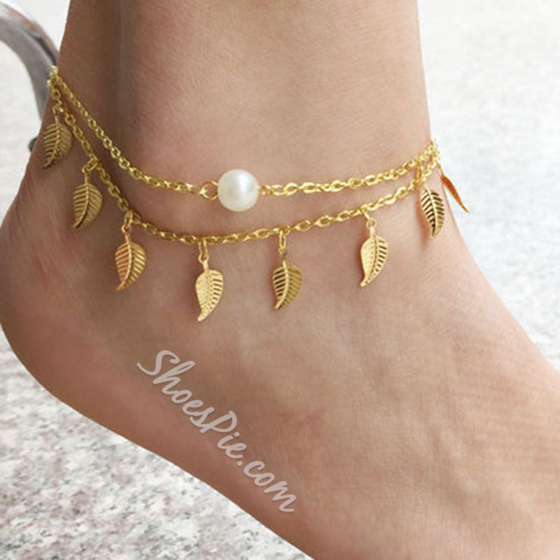 Shoespie Rose Gold Chic Beach Anklet
