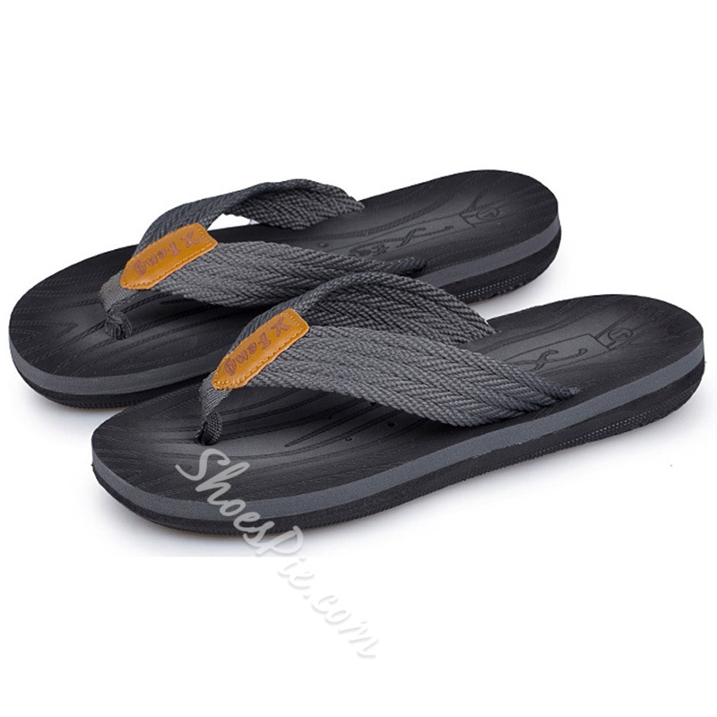 Shoespie Men's Thong Flip Flops