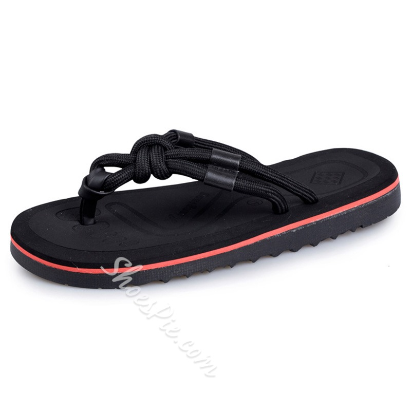 Shoespie Ropes Knots Men's Thong Slippers