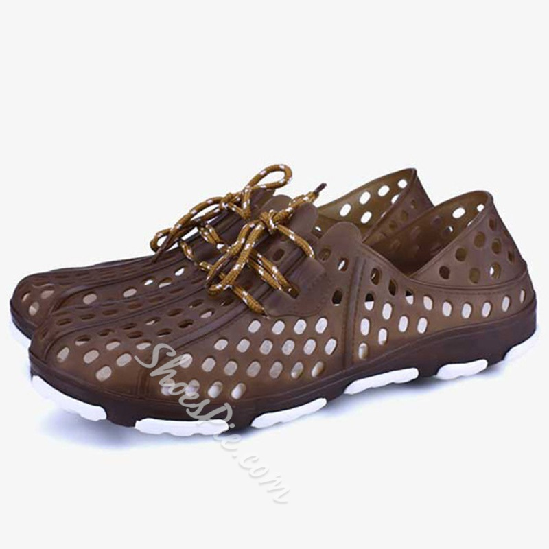 Shoespie Cutout Waterproof Men's Shoes