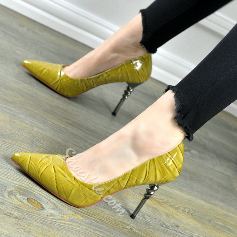Shoespie Elegant Grained Pointed Toe Stiletto Heels