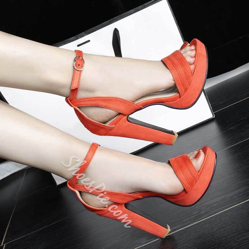 Shoespie Solid Color Sandals