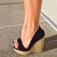 Shoespie Sexy Beach Open Toe Wedge Heels