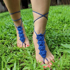 Shoespie Hand-Knitted Crochet Anklets for Women