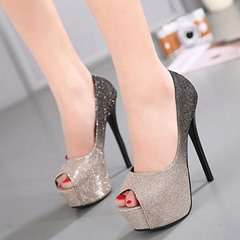 Shoespie Stylish Gradually Changing Color Platform Heels