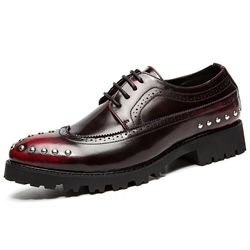 Shoespie Lace-Up Rivet Men's Oxfords