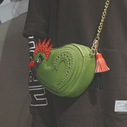 Shoespie Gorgeous Rooster Shape Crossbody Chain Bag