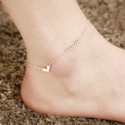 Exquisite Heart-Shaped Decoration Anklets