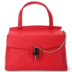 Shoespie Solid Color Top Zip Satchel
