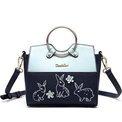 Shoespie Stylish Cute Rabbit Print Hoop Tote