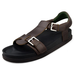 Shoespie Leather Buckles Men's Sandals