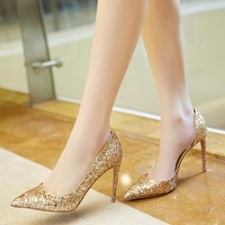 Shoespie Gorgeous Glittering Sparkled Stiletto Heels