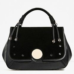 Shoespie Chic Black Medium Convertible Tote