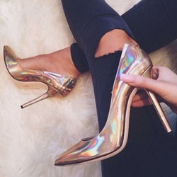 Shoespie Stylish Glossy Stiletto Heels