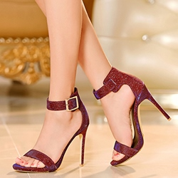 Shoespie Sequined Dress Sandals