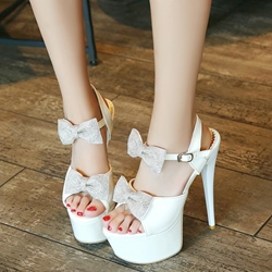 Shoespie Cute Bows Super High Heel Platform Sandals