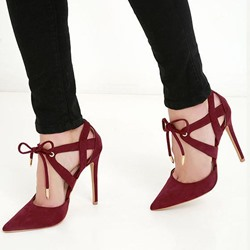 Shoespie Trendy Lace Up Caged Stiletto Heels