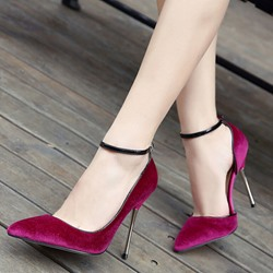 Shoespie Fashion Velvet Ankle Wrap Cheap Stiletto Heels