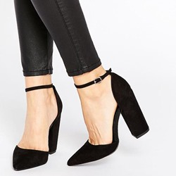 Shoespie Chic Two Part Wear to Work Chunky Heels
