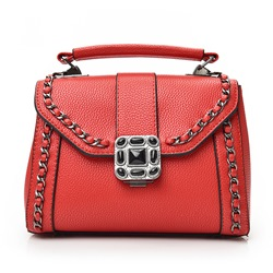 Shoespie Stylish Chain Trimmed School Satchel