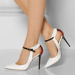 Shoespie Pointed-toe Cut-outs Ankel Wrap Stiletto Heels