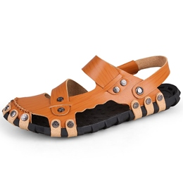 Shoespie Metal Buttons Men's Sandals