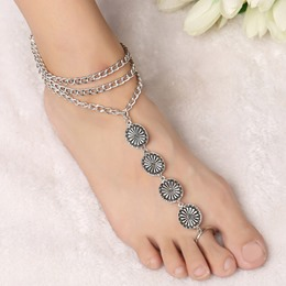 Shoespie Bohemia Style Three Layer Tassel Anklet