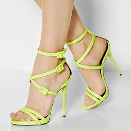 Shoespie Buckle Decorated Strap Dress Sandals