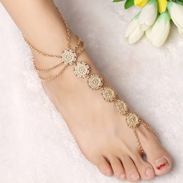 Shoespie Bohemia Style Multilayer Tassel Anklets