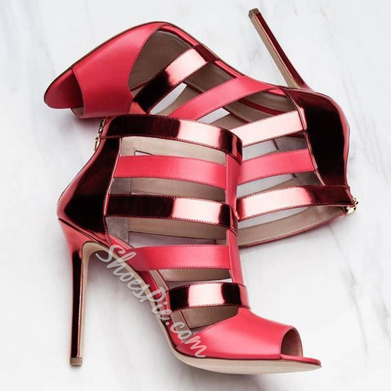 Shoespie Classy Patent Leather Dress Sandals